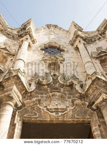Old Havana Cathedral Architecture Detail