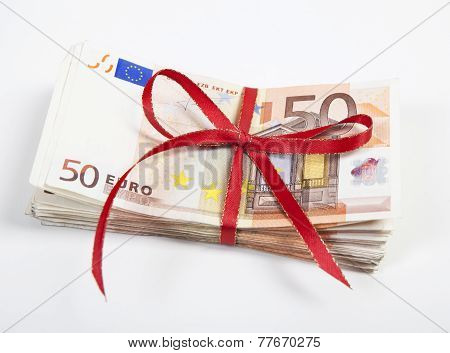 A Bundle Of Euro Bills