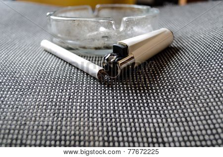 Ashtray And Lighter