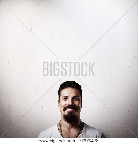 Portrait Of A Smiling Bearded Guy