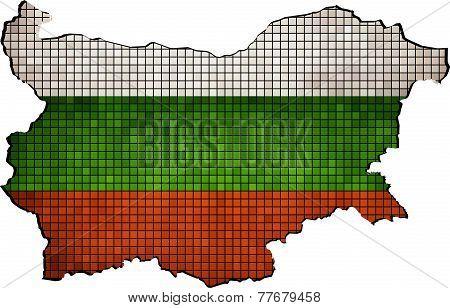 Bulgaria map grunge mosaic