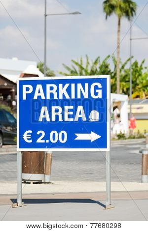 Parking Sign In