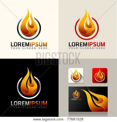Burning Logo Web Icon vector identity