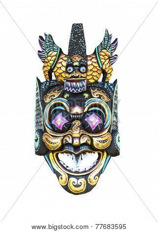 Wooden Asian Mask