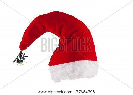 Christmas Hat With Mistletoe