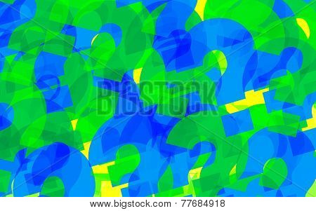 abstract background colored question marks