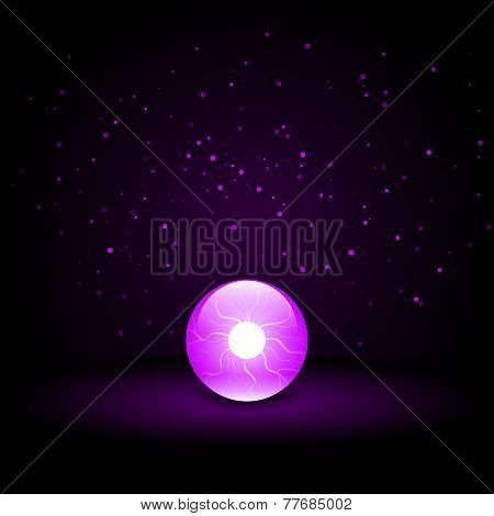 Crystal Ball on Dark Background