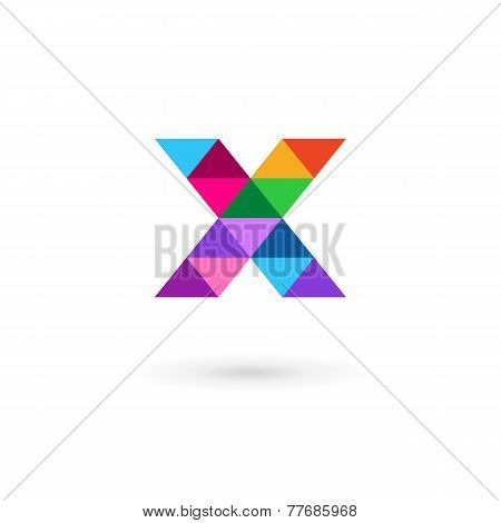 Letter X Mosaic Logo Icon Design Template Elements