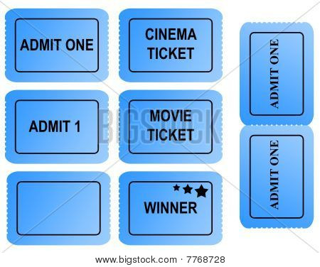 Set Of Blue Tickets