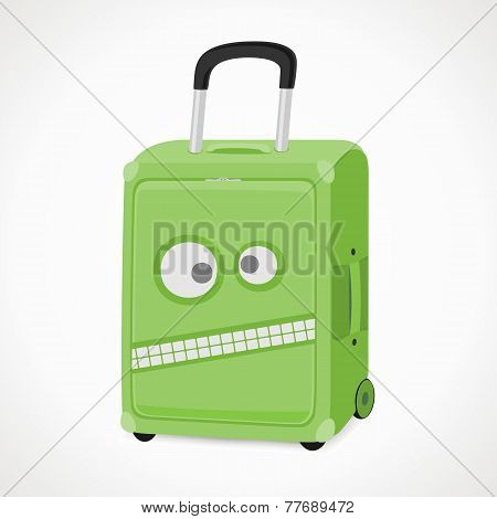Suitcase With A Cartoon Face