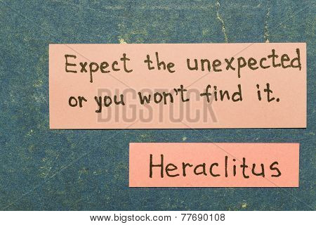 Expect Unexpected