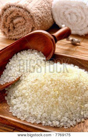 Sea Bath Salt In A Spa