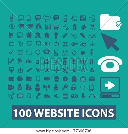 internet, website icons set, vector