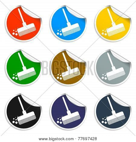 Broom vector icon