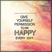 pic of happy day  - Inspirational Typographic Quote  - JPG