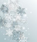 foto of twinkle  - Silver winter abstract Christmas Background - JPG
