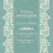 pic of marriage decoration  - Baroque wedding invitation card in old - JPG