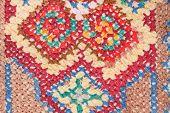 stock photo of stitches  - vintage knitting craftsmanship  - JPG