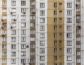 stock photo of public housing  - Fragment one of the serial high - JPG