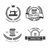 image of tailoring  - Set of tailor labels - JPG
