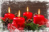 image of mood  - an advent wreath for christmas ensures romatinsche mood in the silent advent - JPG