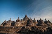 image of arjuna  - Borobudur Temple at morning Yogyakarta Java Indonesia - JPG