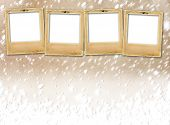 picture of snow-slide  - Old paper slides on snow abstract grunge background - JPG
