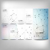 Постер, плакат: Big banners set science backgrounds molecule and communication backgrounds Conceptual vector desi