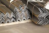picture of foundation  - Metal profiles angle foundation for building structures steel  - JPG