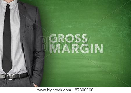 Gross margin text on blackboard