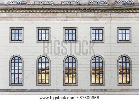 Historic  Facade Of Humboldt University In Berlin From 1810