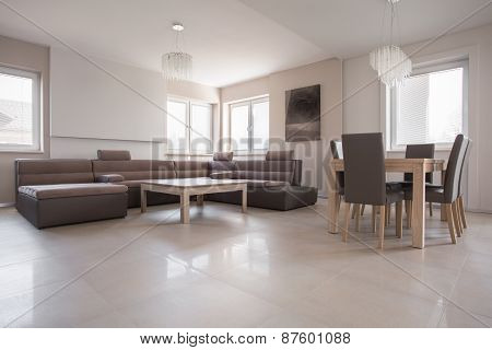 Exclusive Interior In Beige Design