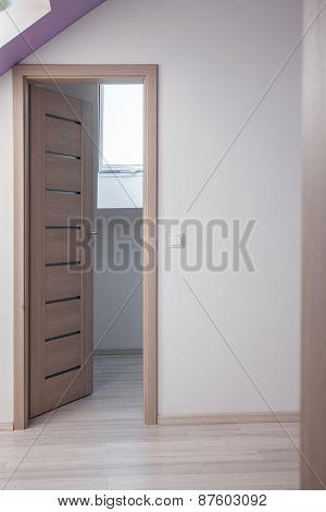 Beige Wooden Bedroom Door