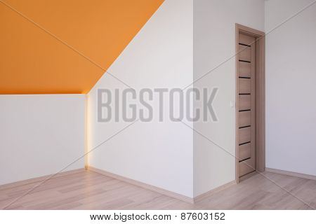Attic Room With Slanted Ceiling
