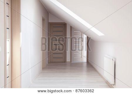 Corridor With Beige Doors