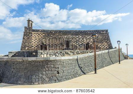 Arrecife And Castle Of San Gabriel, Lanzarote, Canary Islands, Spain