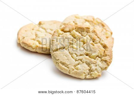 the cookies with white chocolate