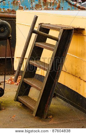 Old Boat Rusty Ladder
