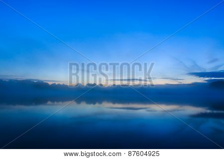 Sun Rising Over Lake France
