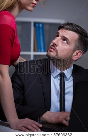 Confused Boss And Secretary