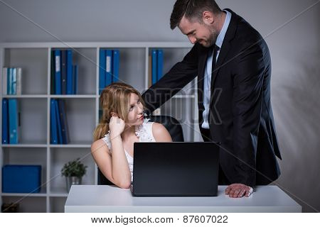 Businessman Seducing Assistant
