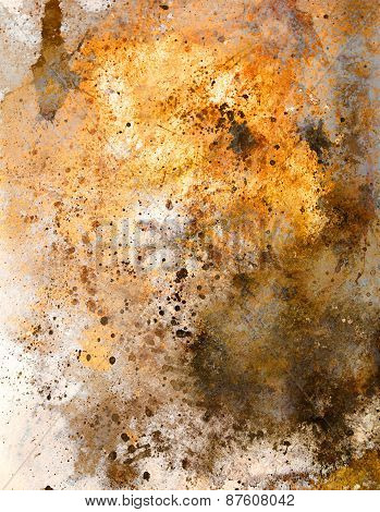 Abstract Color Backgrounds, Painting Colage With Spots