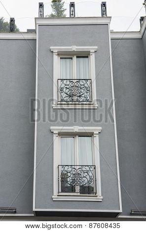 Exterior Detail Of Apartment Architecture