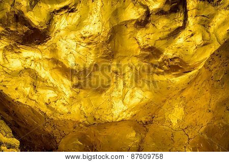 Gold wall texture and background