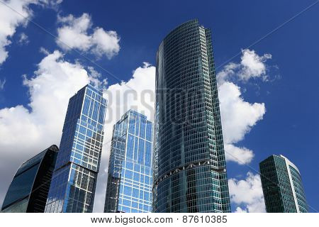 Skyscrapers And Sky With Clouds