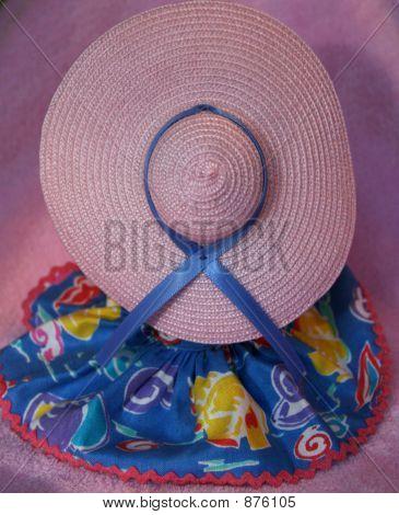 Doll Modeling Large Pink Hat
