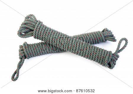 Nylon Rope On White