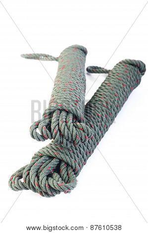 Nylon Rope On White Background