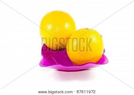 Fresh Orange Fruits in Glass Bowl