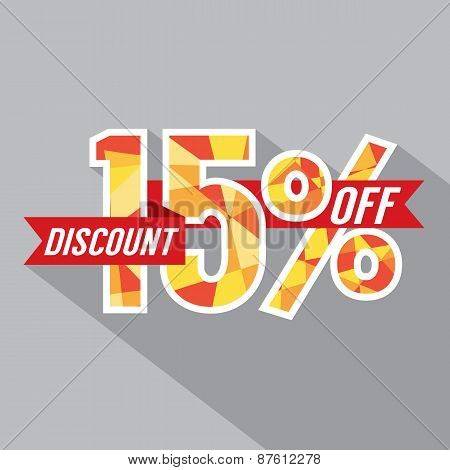 Discount 15 Percent Off.